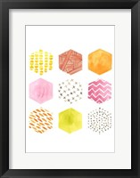 Honeycomb Patterns II Framed Print