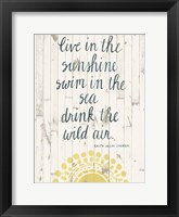 Sun Quote IV Framed Print