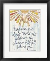 Sunny Day Words II Framed Print