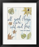 Sunny Day Words IV Framed Print