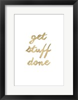 Golden Quote VII Framed Print