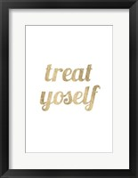 Golden Quote IX Framed Print