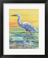 Framed Egret Sunset II