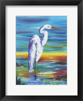 Framed Yellow Heron I