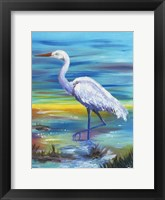 Framed Yellow Heron II