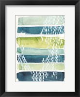 Aqua Streak I Framed Print