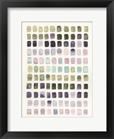 Serene Color Swatches I Framed Print