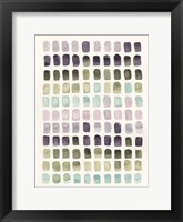 Serene Color Swatches II Framed Print