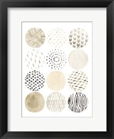Neutral Pattern Play I Framed Print