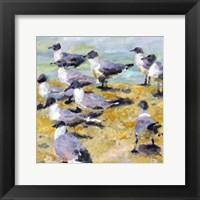 Sea Birds Watercolor I Framed Print