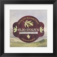 Olive Oil Labels II Framed Print