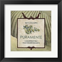 Olive Oil Labels III Framed Print