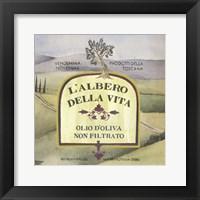Olive Oil Labels IV Framed Print
