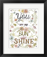 Sweet Sayings I Framed Print