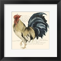 Framed Rooster's Crow II