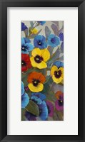 Pansy Panel III Framed Print