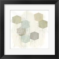Honeycomb Reaction I Framed Print