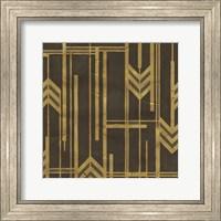 Framed Gilded Deco I