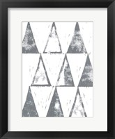 Framed Triangle Block Print II