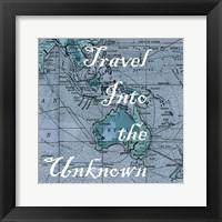 Map Words III Framed Print