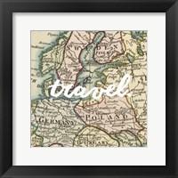 Map Words IV Framed Print