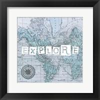 Map Words VI Framed Print