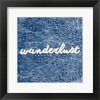 Framed Map Words VII