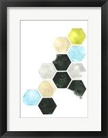 Hazed Honeycomb I Framed Print