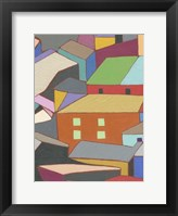 Rooftops in Color III Framed Print