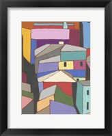 Rooftops in Color IX Framed Print