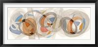 Framed Sepia & Orange Circles