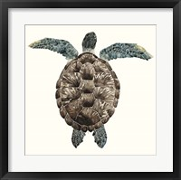 Framed Mosaic Turtle I