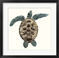 Framed Mosaic Turtle II