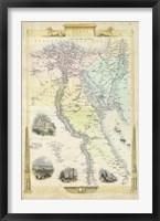 Framed Vintage Map of Egypt