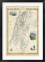 Framed Vintage Map of Palestine