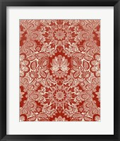 Baroque Tapestry in Red II Framed Print