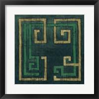 Framed Emerald Diversion II