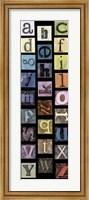 Framed Studio Alphabet II