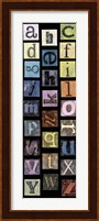 Framed Studio Alphabet II