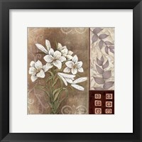 Framed Fleur Blanc II