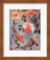 Framed Two Koi