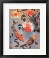 Framed Two Koi