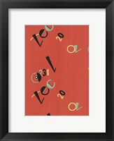 Framed Russian Letters Red