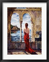 Framed Serene In Red