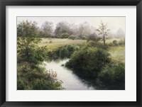 Framed Battenkill River Bank