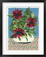 Framed Red Flowers