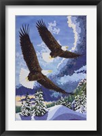 Framed Soaring Over Cloth Mountain