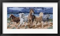 Framed Stampeding Horses