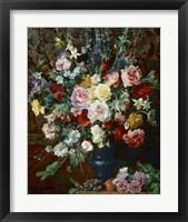 Framed Dutch Style Flowers
