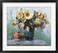 Framed Yellow Peonies